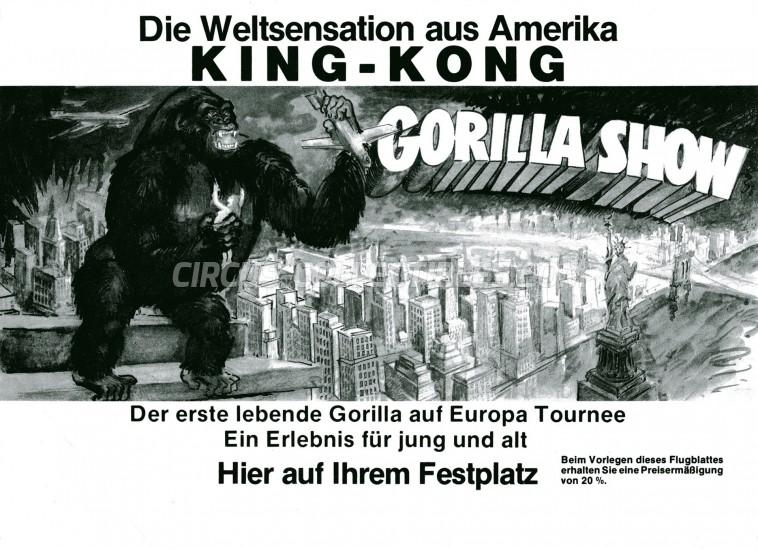 Gorilla Show Circus Ticket/Flyer - Germany 0