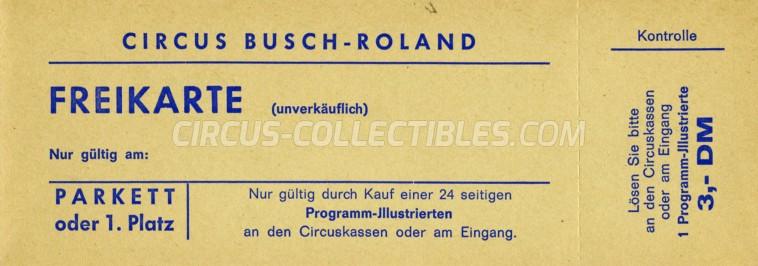 Busch-Roland Circus Ticket/Flyer -  0