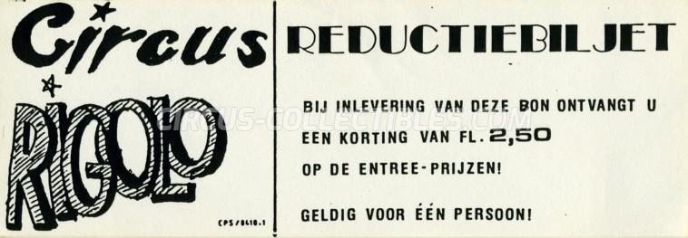 Rigolo (NL) Circus Ticket/Flyer -  0