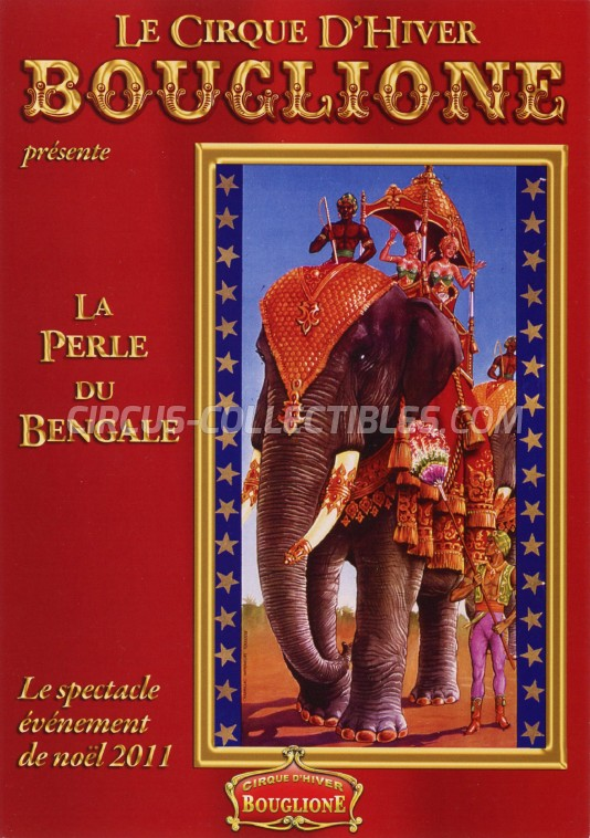 Bouglione Circus Ticket/Flyer - France 2011