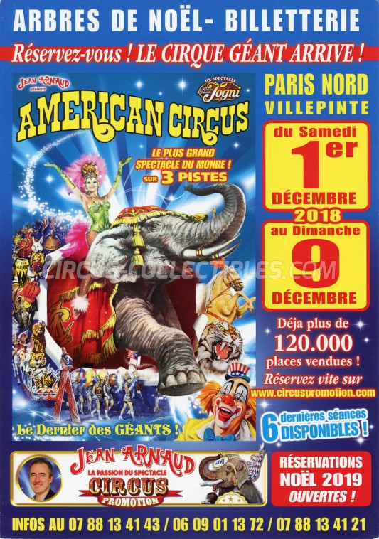 American Circus Circus Ticket/Flyer - France 2018