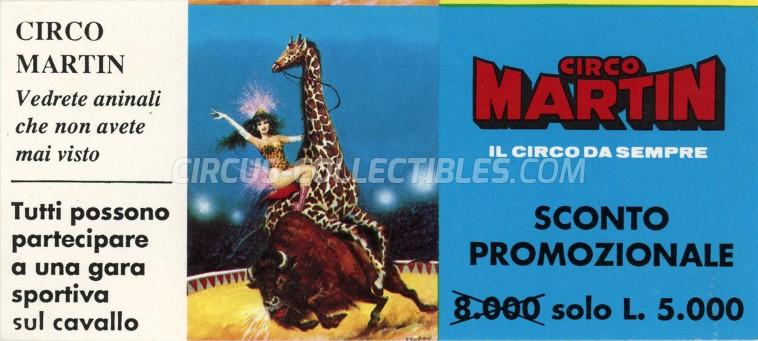 Martin Circus Ticket/Flyer -  0