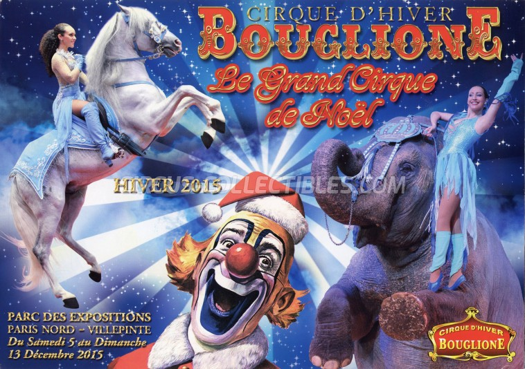 Bouglione Circus Ticket/Flyer - France 2015