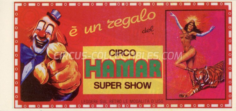 Hamar Circus Ticket/Flyer -  0