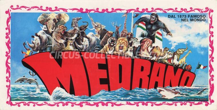 Medrano (Casartelli) Circus Ticket/Flyer - Italy 1988