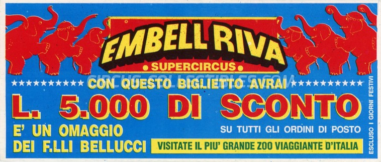 Embell Riva Circus Ticket/Flyer -  0