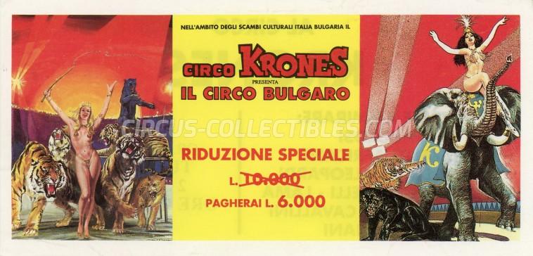 Krones Circus Ticket/Flyer -  1996