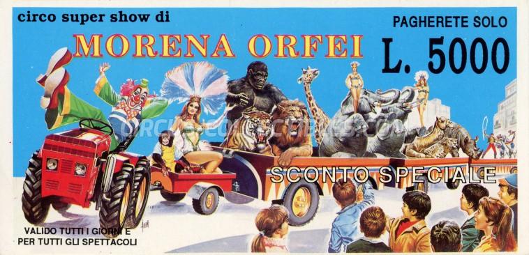 Morena Orfei Circus Ticket/Flyer -  0