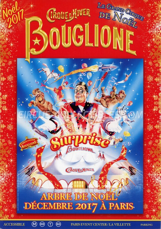 Bouglione Circus Ticket/Flyer - France 2017