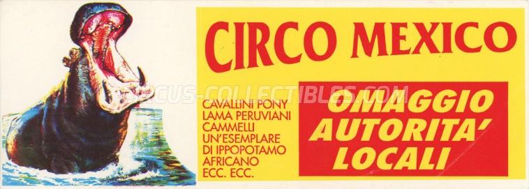 Mexican Circus Circus Ticket/Flyer -  0