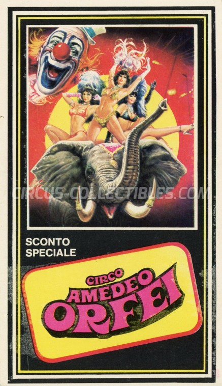 Amedeo Orfei Circus Ticket/Flyer -  0