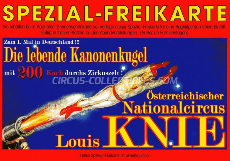 Österreichischer National-Circus Louis Knie Circus Ticket/Flyer -  0