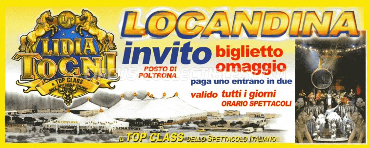 Lidia Togni Circus Ticket/Flyer -  0