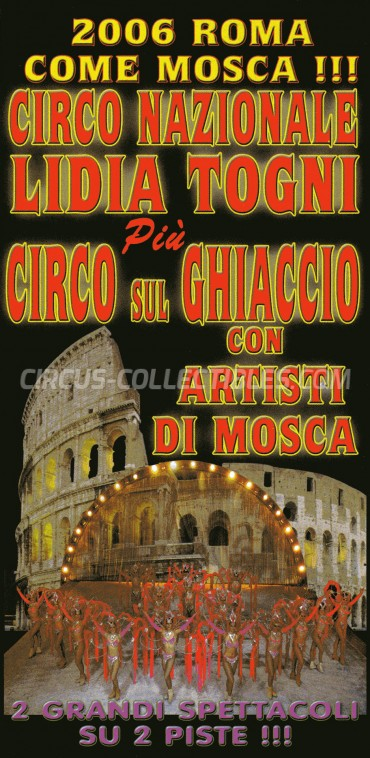 Lidia Togni Circus Ticket/Flyer - Italy 2006