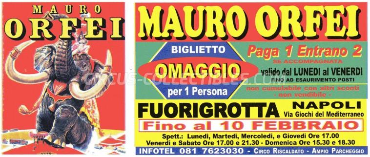Mauro Orfei Circus Ticket/Flyer - Italy 0