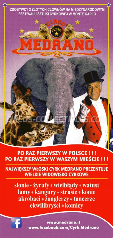 Medrano (Casartelli) Circus Ticket/Flyer - Poland 2014
