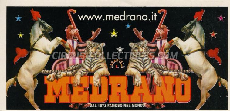 Medrano (Casartelli) Circus Ticket/Flyer - Italy 2000