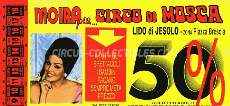 Moira Orfei Circus Ticket/Flyer - Italy 1988
