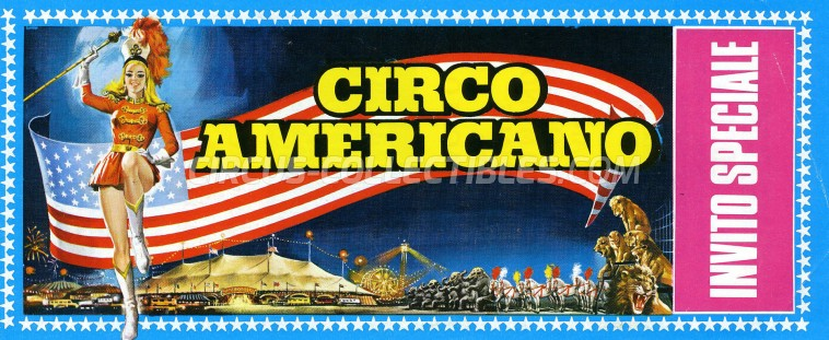 American Circus Circus Ticket/Flyer -  1970