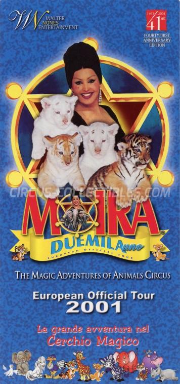 Moira Orfei Circus Ticket/Flyer -  2001
