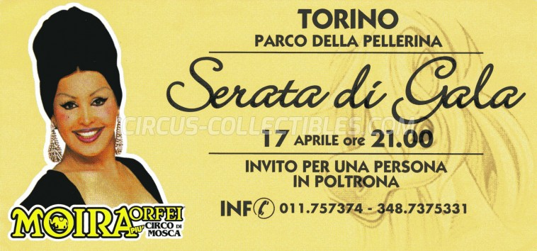 Moira Orfei Circus Ticket/Flyer - Italy 0