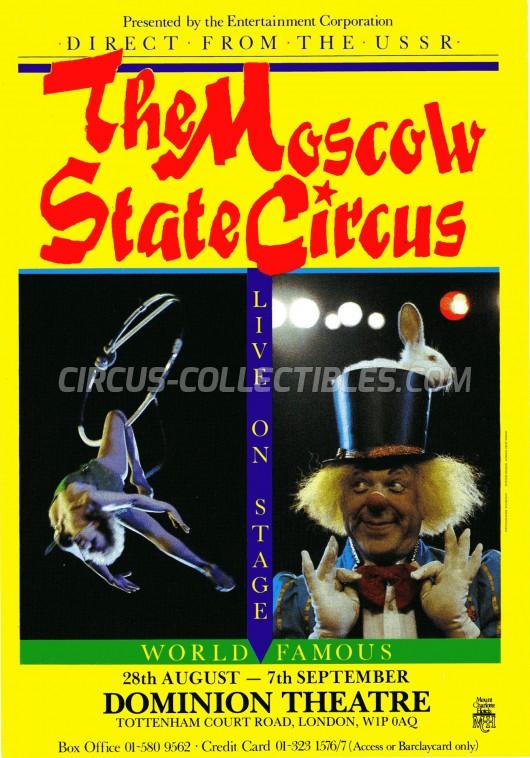 Moscow Circus Circus Ticket/Flyer - England 0