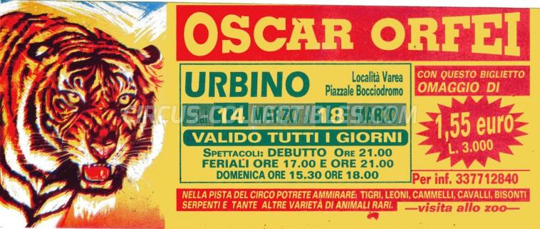 Oscar Orfei Circus Ticket/Flyer - Italy 0