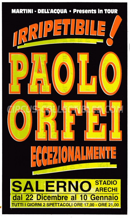 Paolo Orfei Circus Ticket/Flyer - Italy 0