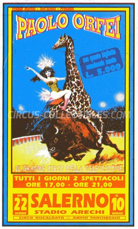 Paolo Orfei Circus Ticket/Flyer - Italy 0