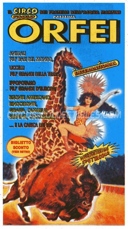 Paolo Orfei Circus Ticket/Flyer -  0