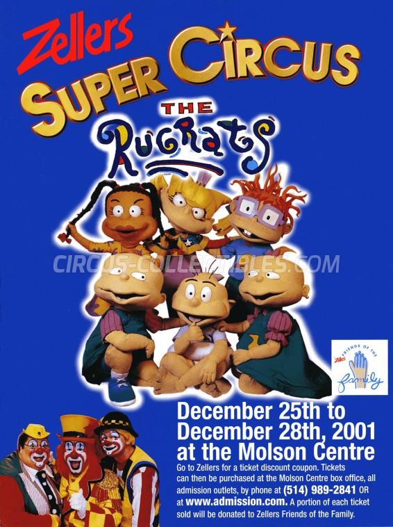 Super Cirque Circus Ticket/Flyer - Canada 2001