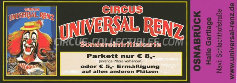 Renz Circus Ticket/Flyer - Germany 2011