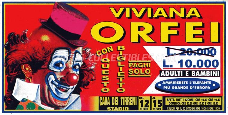 Viviana Orfei Circus Ticket/Flyer - Italy 0