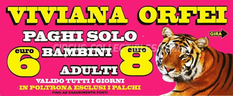 Viviana Orfei Circus Ticket/Flyer -  2012