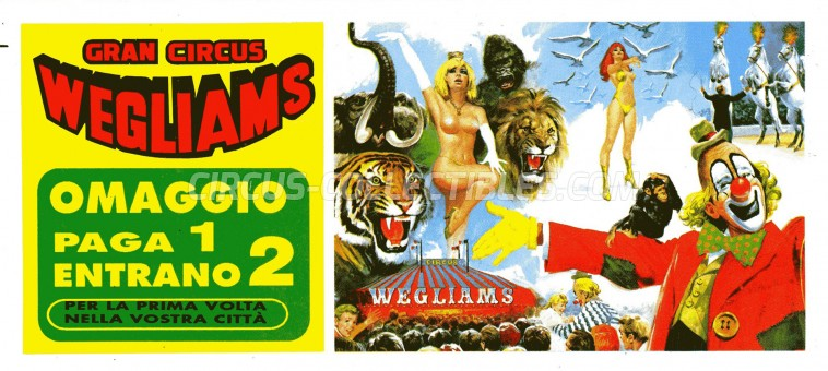 Wegliams Circus Ticket/Flyer -  0