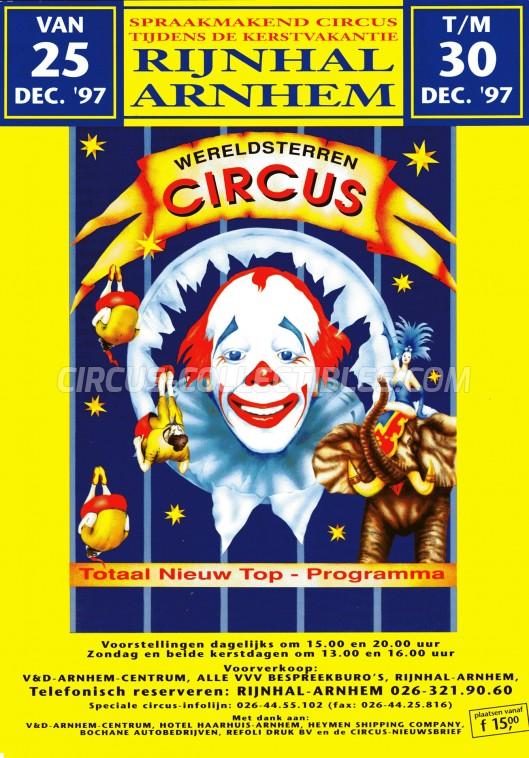 Wereldsterren Circus Circus Ticket/Flyer - Netherlands 1997
