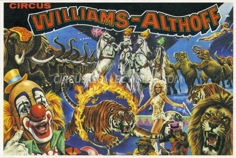 Althoff-Williams Circus Ticket/Flyer -  1978