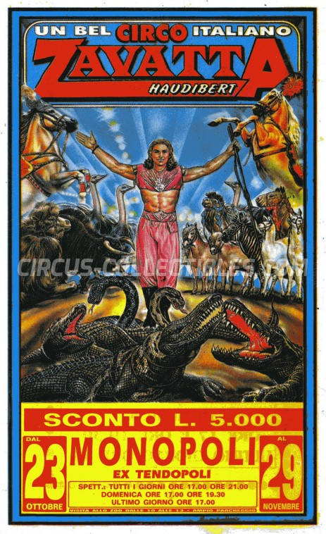 Zavatta Haudibert Circus Ticket/Flyer - Italy 0