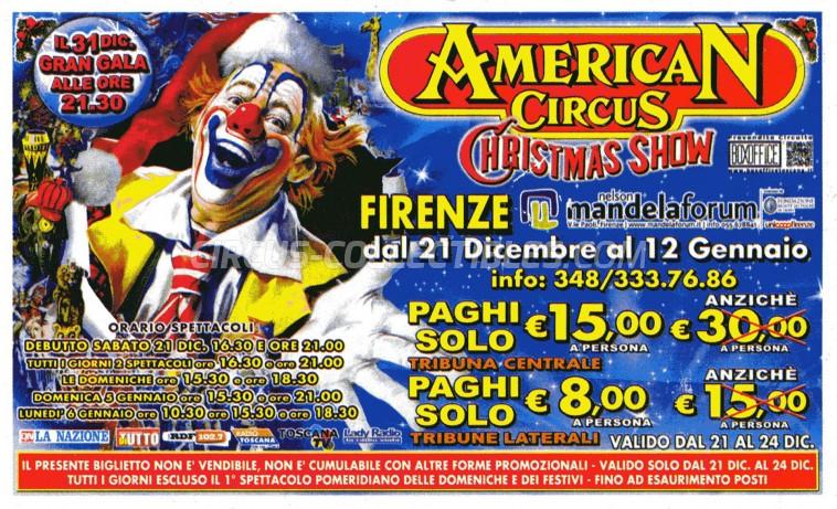 American Circus Circus Ticket/Flyer - Italy 2013