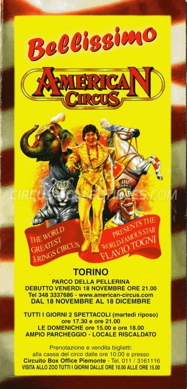 American Circus Circus Ticket/Flyer - Italy 2005