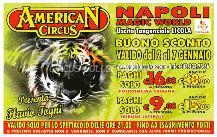American Circus Circus Ticket/Flyer - Italy 2012
