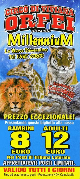 Viviana Orfei Circus Ticket/Flyer -  2014