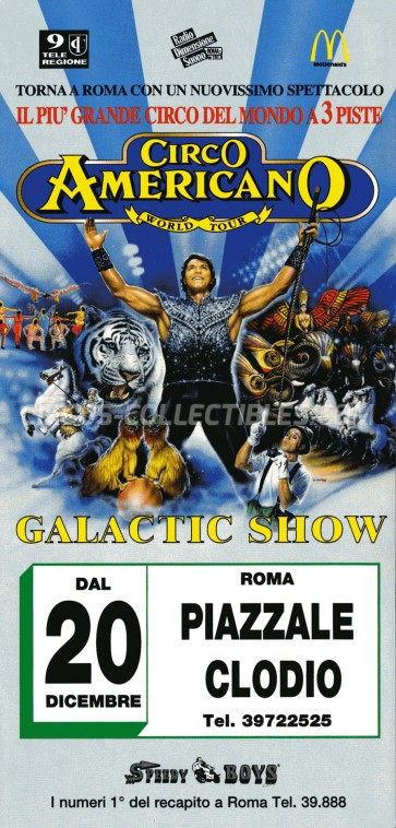 American Circus Circus Ticket/Flyer - Italy 1997