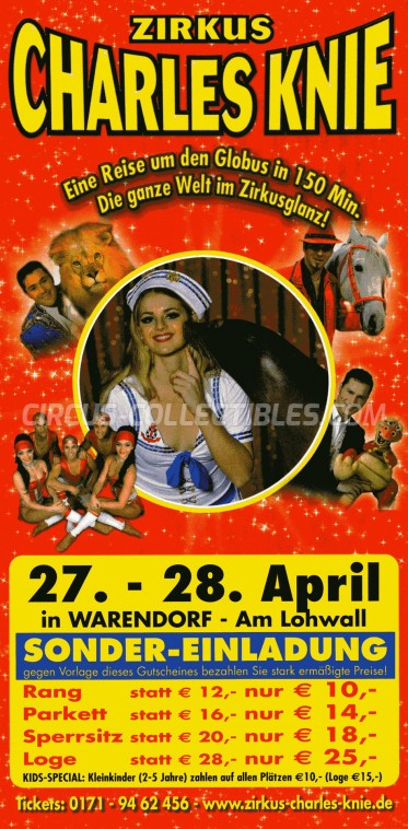 Charles Knie Circus Ticket/Flyer - Germany 2010