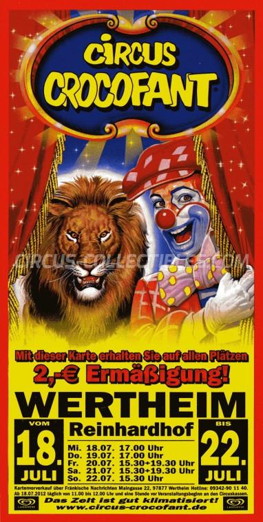 Crocofant Circus Ticket/Flyer - Germany 2013