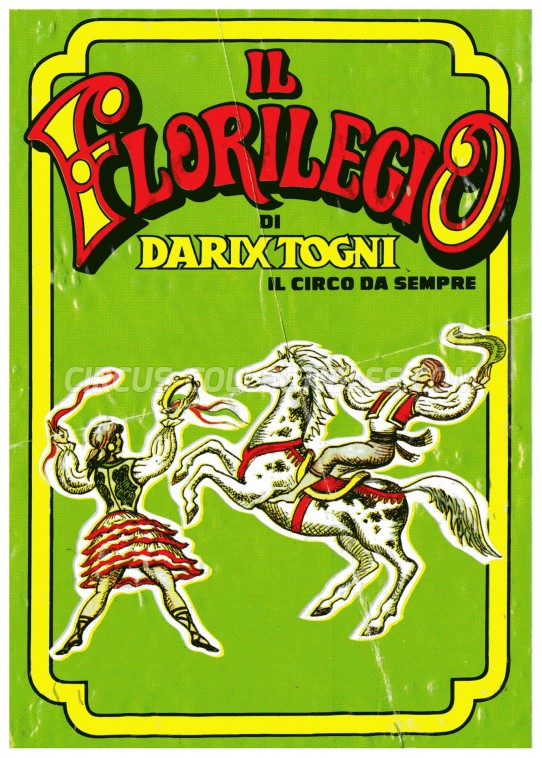 Darix Togni Circus Ticket/Flyer - Italy 2001
