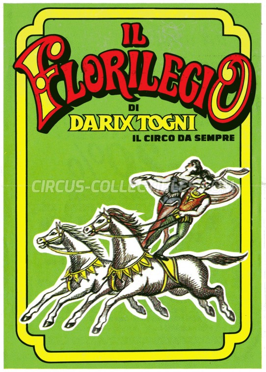 Darix Togni Circus Ticket/Flyer - Italy 2000