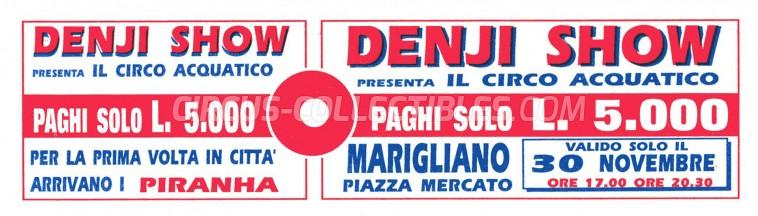 Denji Show Circus Ticket/Flyer - Italy 0