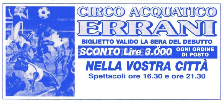 Errani Circus Ticket/Flyer -  0