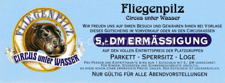 Fliegenpilz Circus Ticket/Flyer -  0
